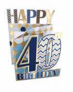40 jaar - 3d verjaardagskaart cutting edge - happy 40th birthday