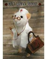 santoro tiny squee mousies wenskaart  - get well soon