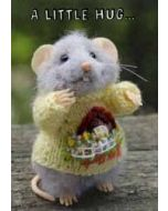 santoro tiny squee mousies wenskaart - a little hug