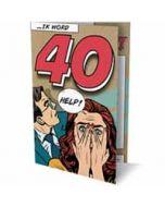 6 uitnodigingskaarten met envelop - ik word 40