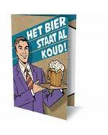 6 uitnodigingskaarten met envelop - het bier staat al koud!