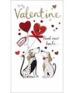 grote luxe valentijnskaart - to my valentine head over heels... - honden