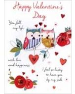valentijnskaart - happy valentines day - you fill my life with love and happiness - uilen