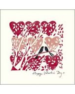 valentijnskaart  woodmansterne - happy valentine's day X - hartjes en vogels