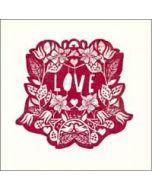 valentijnskaart  woodmansterne - love - bloemen