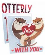 3d valentijnskaart - otterly in love with you