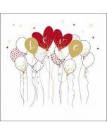 luxe valentijnskaart woodmansterne - love - ballonnen