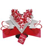 3D valentijnskaart - pop ups - love you happy valentine's day - hartjes