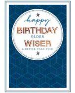 verjaardagskaart copper - happy birthday older wiser and better than ever