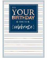 verjaardagskaart copper - it's your birthday time to celebrate