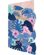lasergesneden verjaardagskaart roger la borde - bloemen paars roze