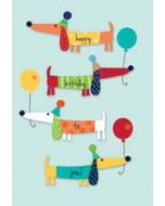verjaardagskaart second nature - happy birthday to you - teckels