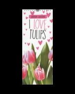 verjaardagskalender -  I love tulips  -  tulpen - birthday calendar