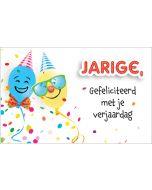 wenskaart - jarige, gefeliciteerd met je verjaardag - ballonnen