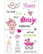 geboortekaartje - meisje geboren