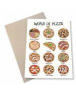 wenskaart mouse & pen - world of pizza