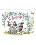uitklapbare verjaardagskaart cache-cache - happy birthday - happy birthday - wasbeer en vrienden