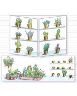 uitklapbare wenskaart cache-cache - cactussen