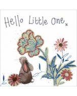 wenskaart alex clark - hello little one - konijn