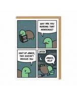 wenskaart ohh deer - schildpadden - comic