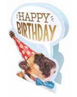 3d verjaardagskaart paper dazzle - happy birthday - hond