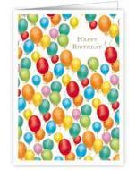 wenskaart quire - happy birthday - ballonnen