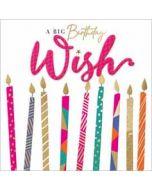 verjaardagskaart second nature - a big birthday wish - kaarsjes