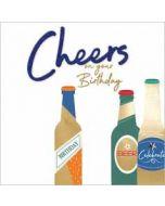 verjaardagskaart second nature - cheers on your birthday - bier