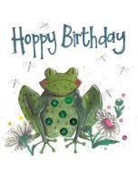 verjaardagskaart alex clark - happy birthday - kikker