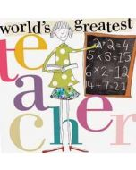 wenskaart caroline gardner - world s greatest teacher