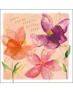 wenskaart woodmansterne - hope you're feeling better soon - bloemen