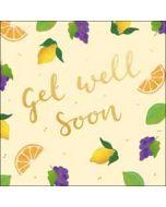 wenskaart woodmansterne - get well soon - fruit