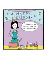 wenskaart woodmansterne - happy birthday - cake