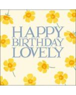 verjaardagskaart woodmansterne - happy birthday lovely - bloemen