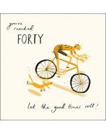 40 jaar - verjaardagskaart woodmansterne - you've reached forty