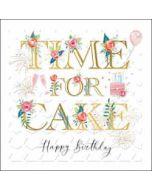 luxe verjaardagskaart woodmansterne - time for cake - happy birthday