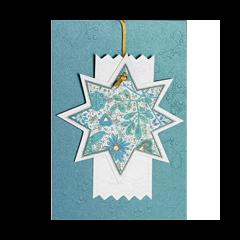 luxe kerstkaart met hanger - kerstster