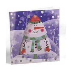 6 luxe kerstkaarten van busquets - sneeuwpop