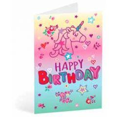 verjaardagskaart busquets - happy birthday - eenhoorn