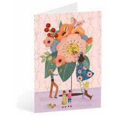 wenskaart busquets - bloemen boeket