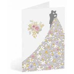 trouwkaart busquets - bruidspaar en bruidsboeket