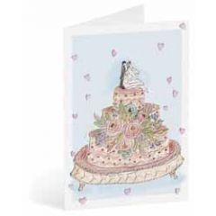 trouwkaart busquets - bruidspaar op trouwtaart