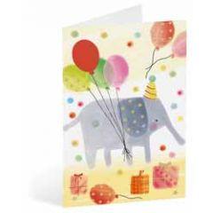 kinderkaart busquets - olifant en ballonnen
