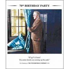 70 jaar grote verjaardagskaart - 70th birthday party