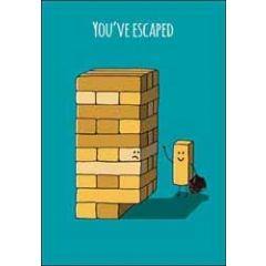 wenskaart nieuwe baan - you have escaped