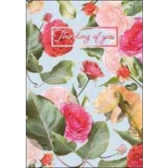 sterkte kaart - thinking of you - rozen