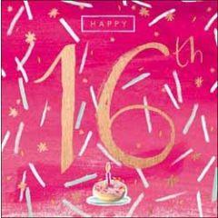 16 jaar verjaardagskaart - happy 16th
