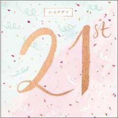 21 jaar verjaardagskaart - happy 21st