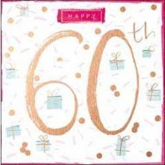 60 jaar verjaardagskaart - happy 60th