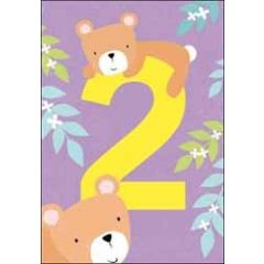 2 jaar - verjaardagskaart - beren